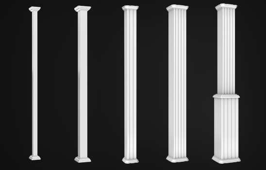 Colonnes en aluminium