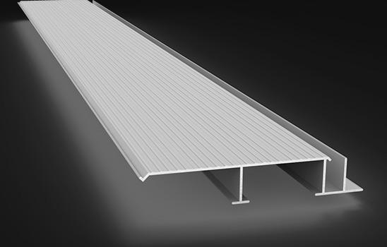 Planché ouvert en aluminium