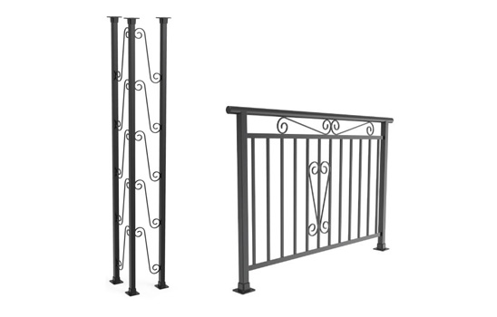 Rampes et colonnes soudées
